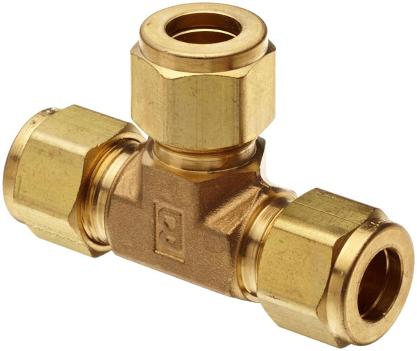 Brass-Compression-Tube Fitting-Tee-Tube-OD...