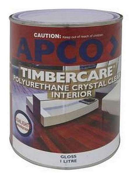 Apco Touchwood Varnish Gloss Polyurethane Clear 1L...