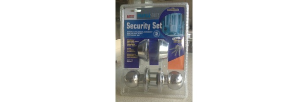 Lane Security Entry Door Handle Set With Double Dead Bolt