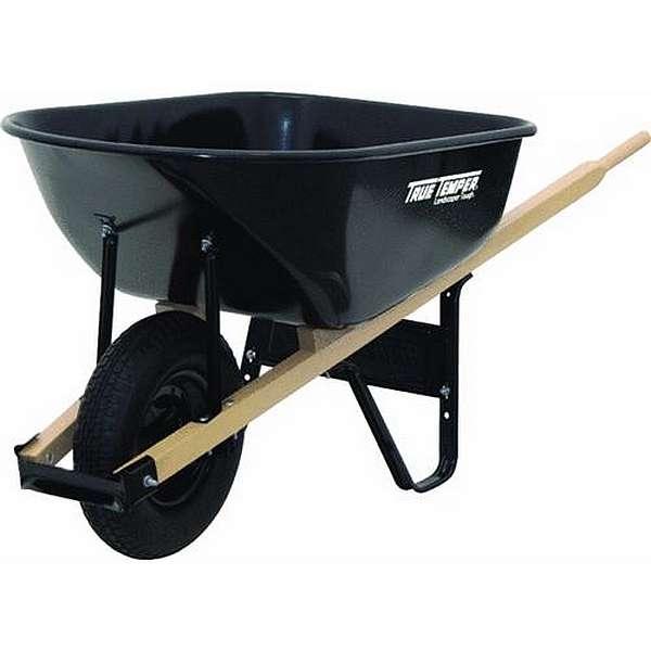 True-Temper-6-Cu-Ft-Steel-Wheelbarrow...
